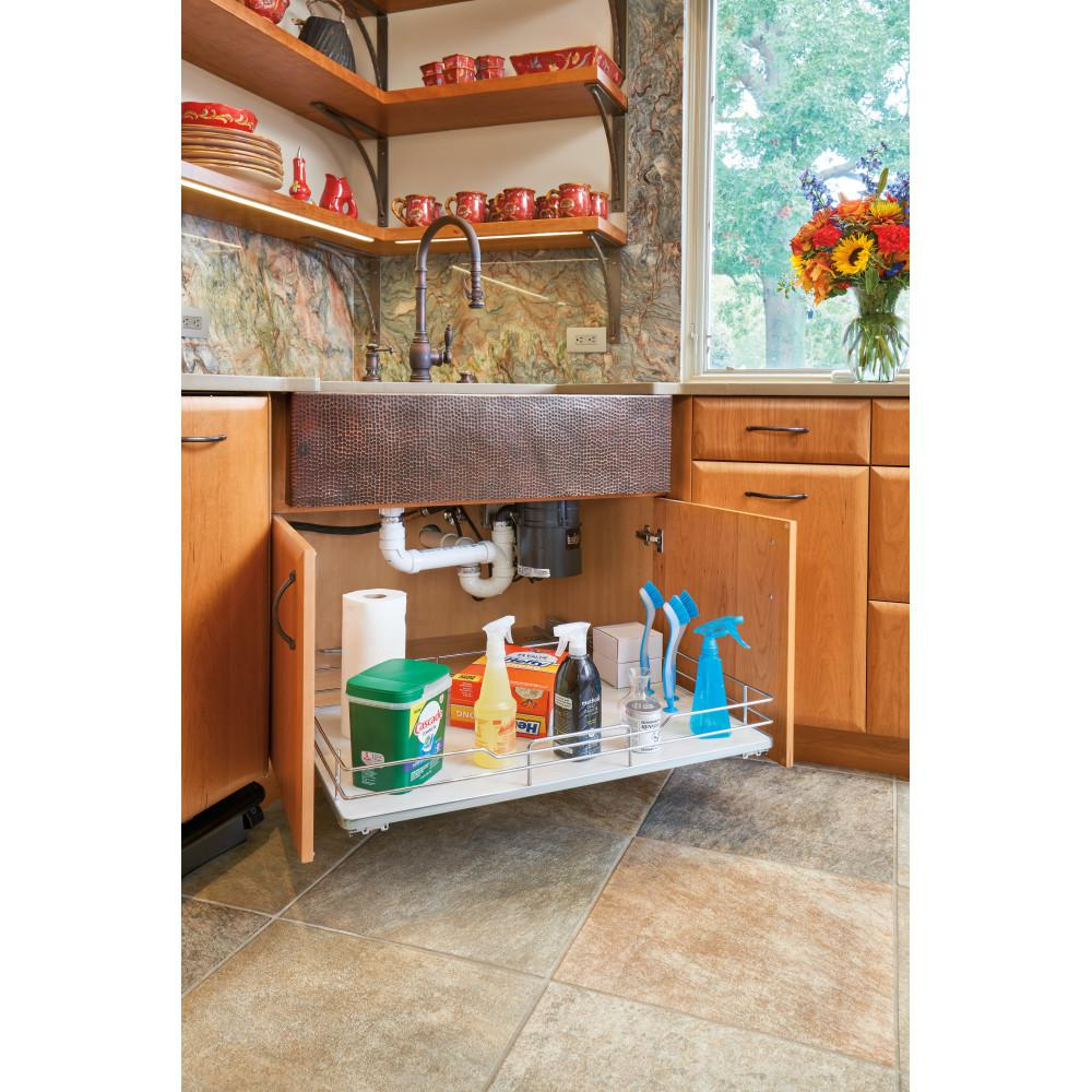 Rev-A-Shelf 33 in. Pullout Baskets with Gray Solid Bottom Rev-A-Shelf 33 in. Pullout Baskets with Gray Solid Bottom