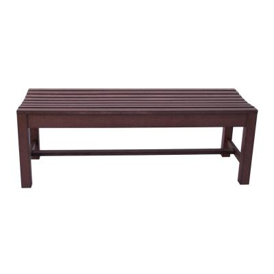 4 ft. Backless Recycled Plastic Outdoor Bench - Chateau Brown