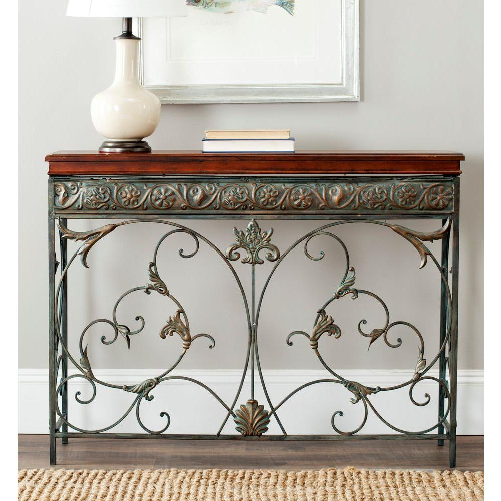 Safavieh Cynthia Brown Console Table