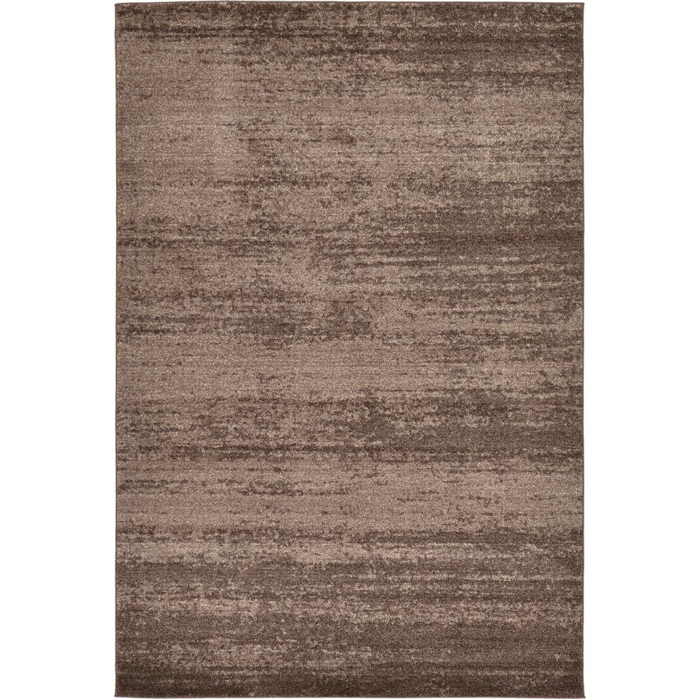 Uniquely Modern Rugs: Unique Loom Modern Del Mar Brown 6 Ft. X 9 Ft. Area Rug