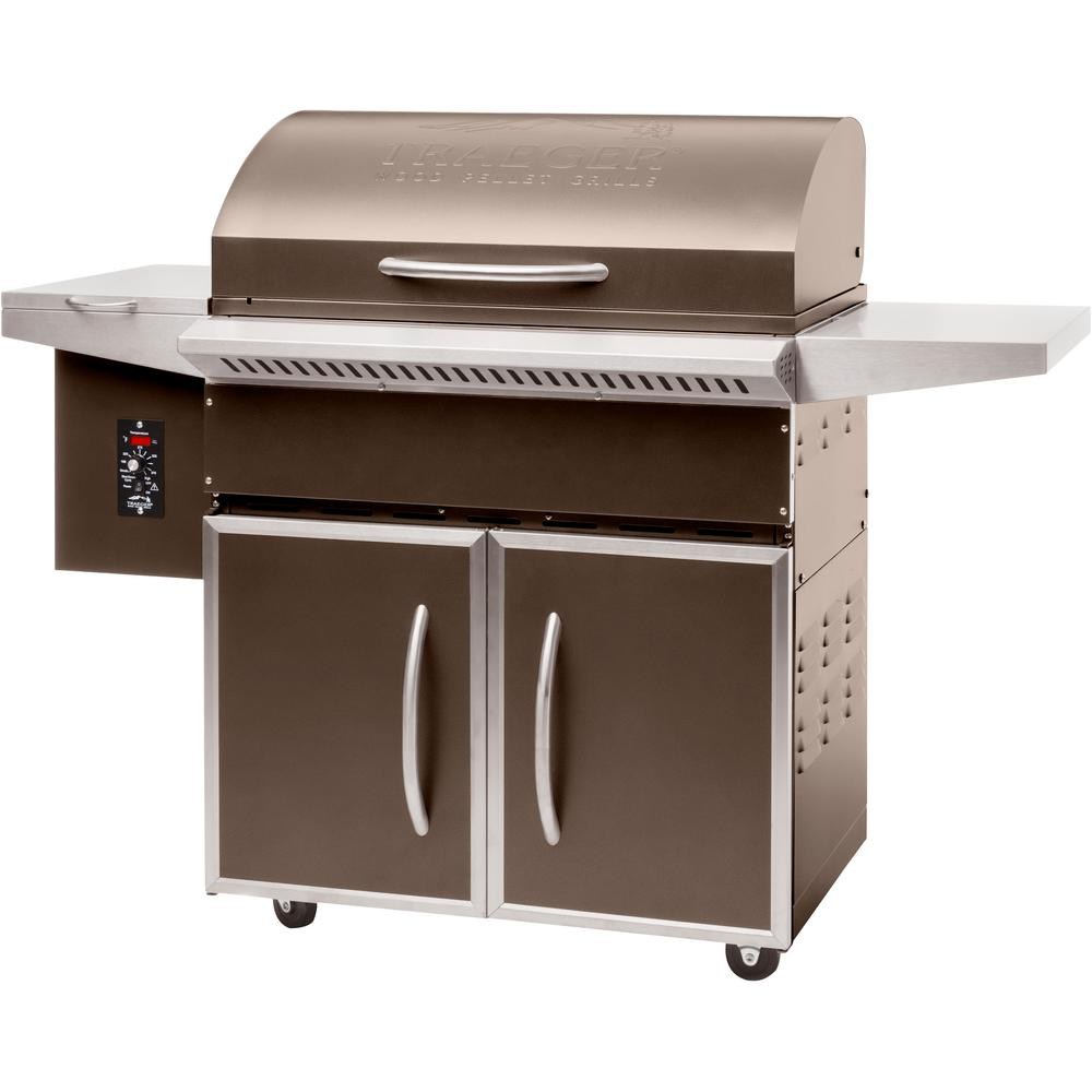 traeger select elite wood fired pellet grill and smoker in bronze rh homedepot com