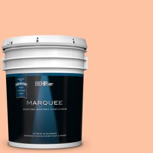 Behr Marquee 5 Gal 260b 4 Orange Sherbet Satin Enamel Exterior Paint And Primer In One 945405 The Home Depot
