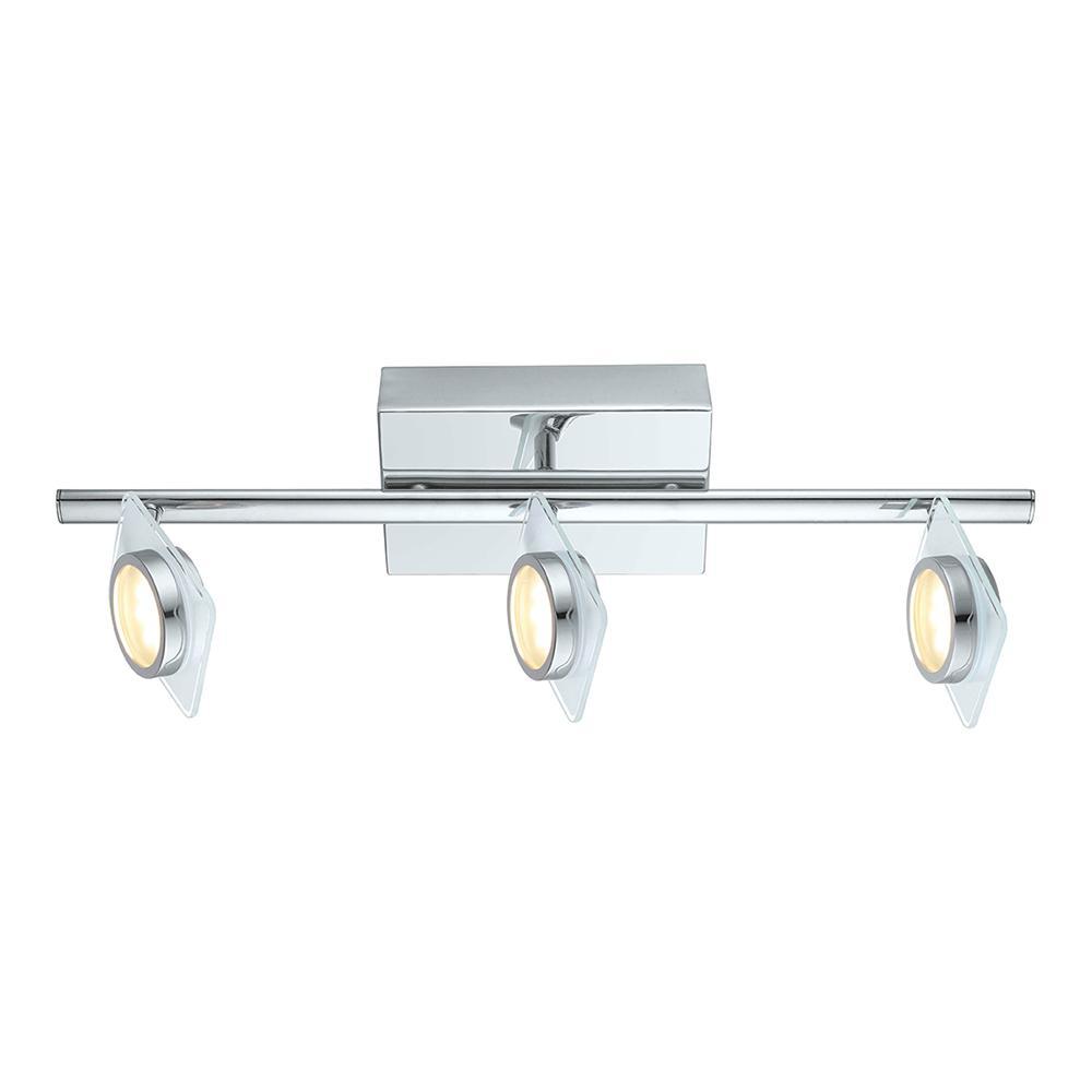 Tinnari 2 ft. Chrome Integrated LED Track Lighting Kit