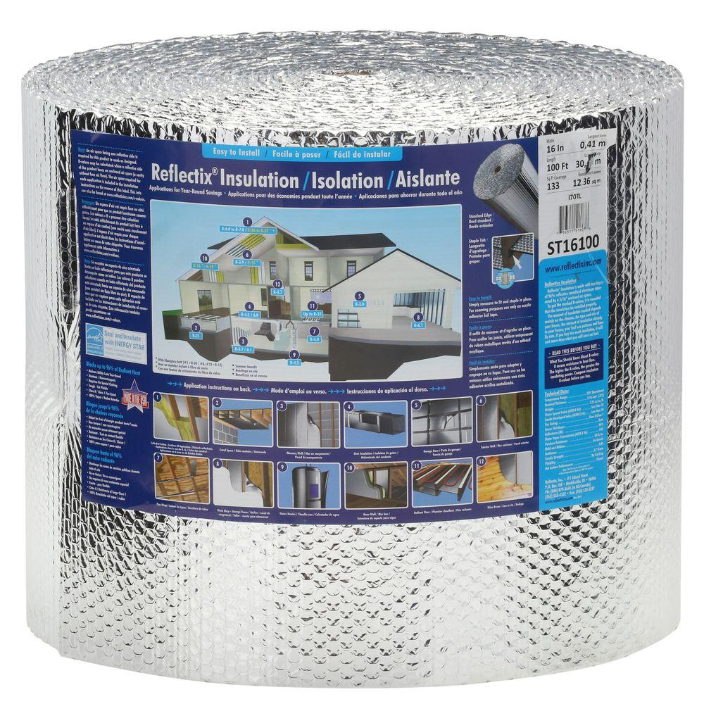 Reflectix 16 in. x 100 ft. Double Reflective Insulation Roll with Staple Tab Edge