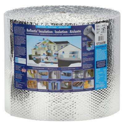 16 in. x 100 ft. Double Reflective Insulation Roll with Staple Tab Edge
