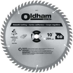 Oldham 10 inch 60-Tooth Industrial Carbide Finishing Saw Blade by Oldham
