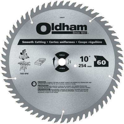 10 in. 60-Tooth Industrial Carbide Finishing Saw Blade