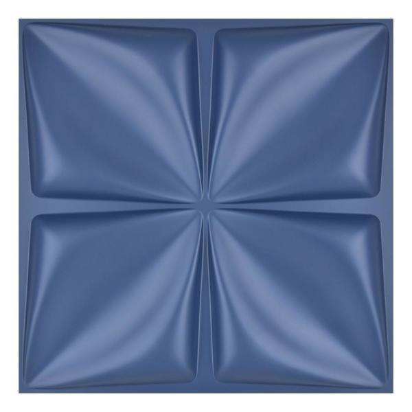 19.7 in. x 19.7 in. Maple Leaf Navy Blue Waterproof PVC 3D Wall Panel (32 sq.ft./ Box)