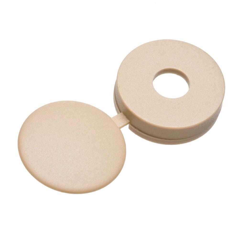 #8 Beige Pan-Head Hinged Screw Covers (3-Pack)