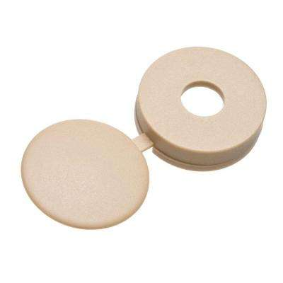 #8 Beige Pan-Head Hinged Screw Covers (3-Pack)