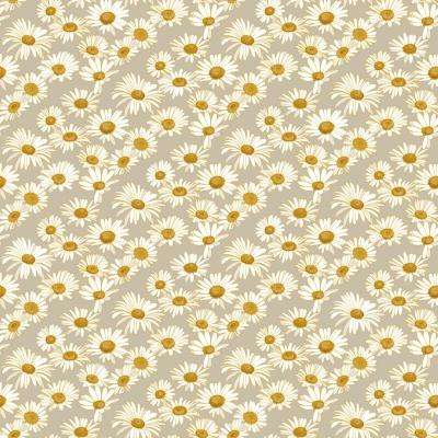 Novogratz Daisies Greige Self-Adhesive, Removable Wallpaper