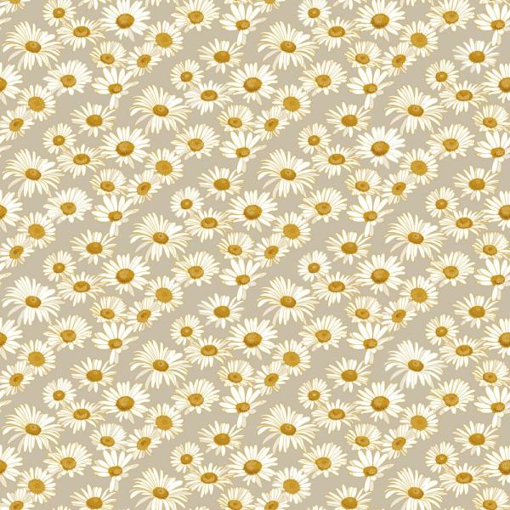 Daisies Vinyl Peelable Wallpaper (Covers 28 sq. ft.)