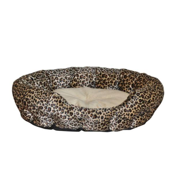 Self Warming Nuzzle Nest Small Brown Leopard Print Cat Bed