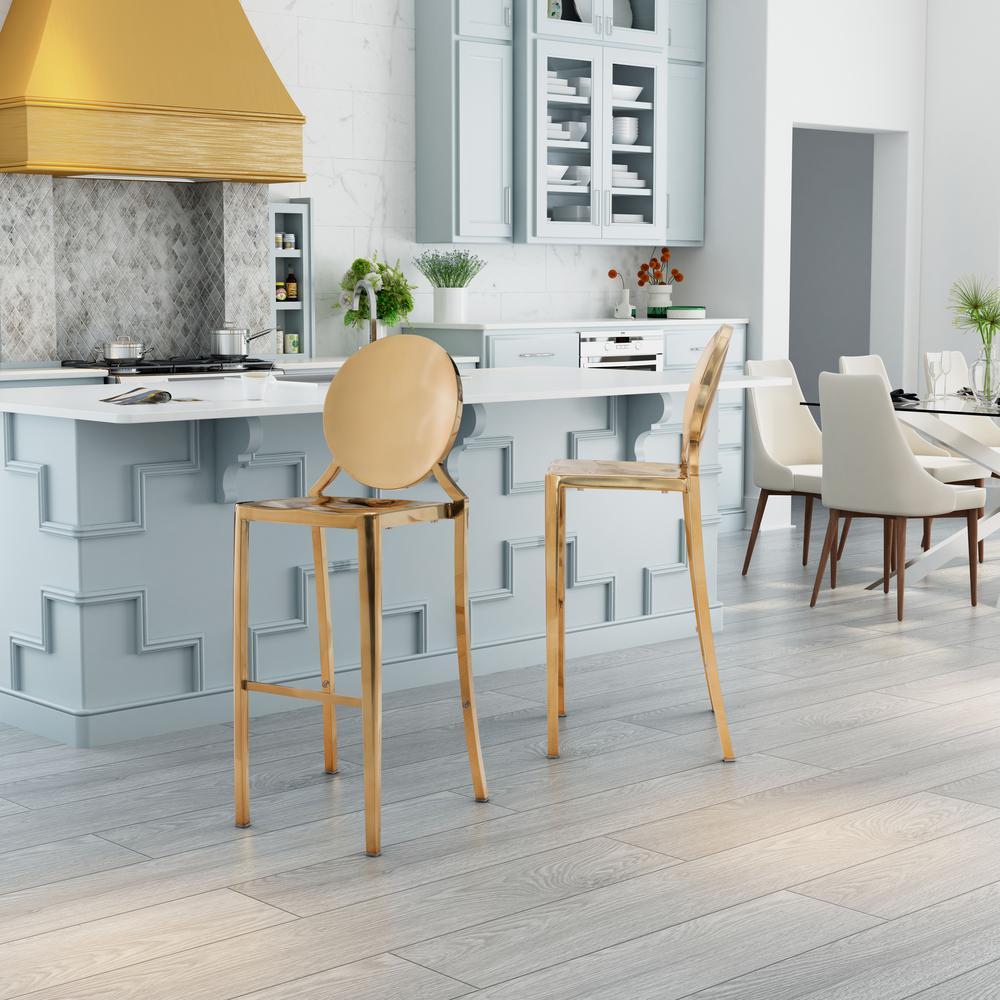 Pleasant Modern Round Seat Gold Bar Stools Kitchen Dining Inzonedesignstudio Interior Chair Design Inzonedesignstudiocom