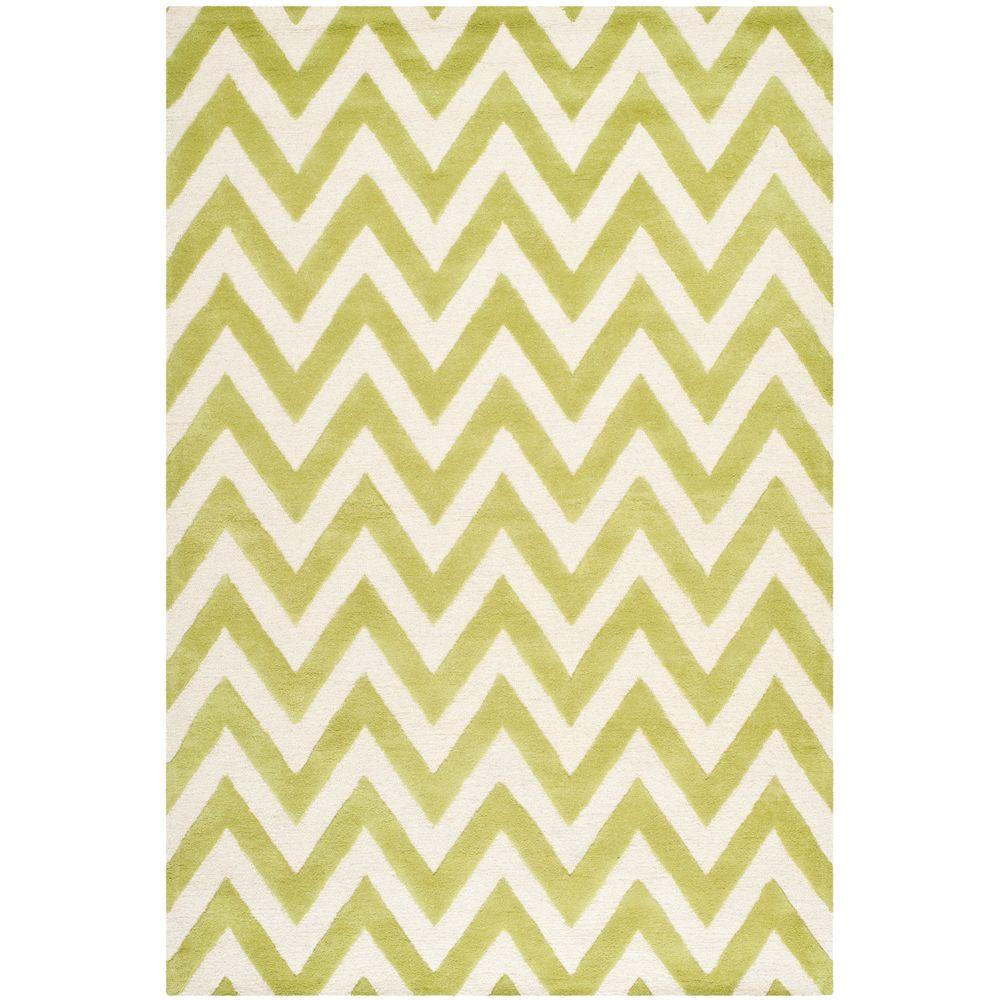 Cambridge Green/Ivory 6 ft. x 9 ft. Area Rug