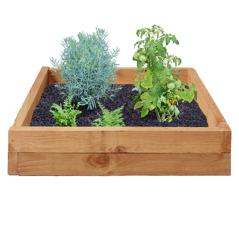 3 ft. x 3 ft. Western Red Cedar Raised Garden Bed Kit