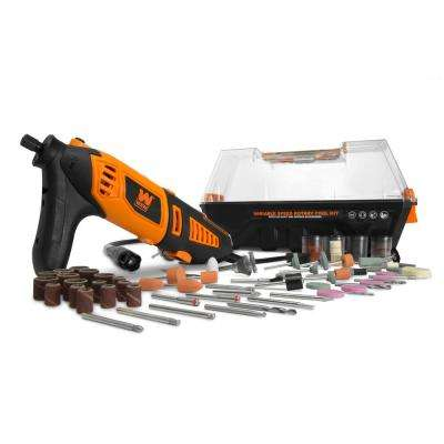 Variable Speed Steady-Grip Rotary Tool with 190-Piece Accessory Kit Flex Shaft and Carrying Case