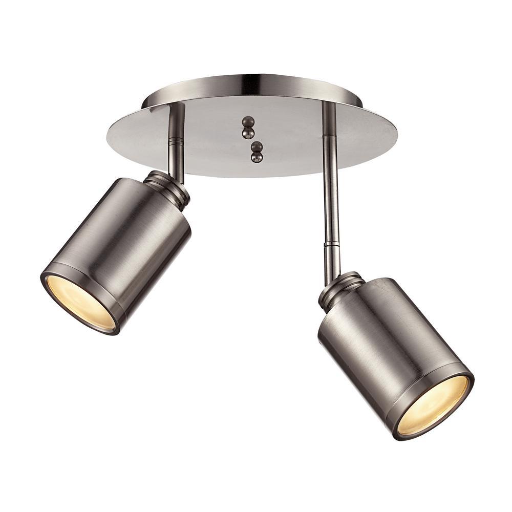 Holdrege 9.25 in. Brushed Nickel 18-Watt Integrated LED Track Lighting Kit