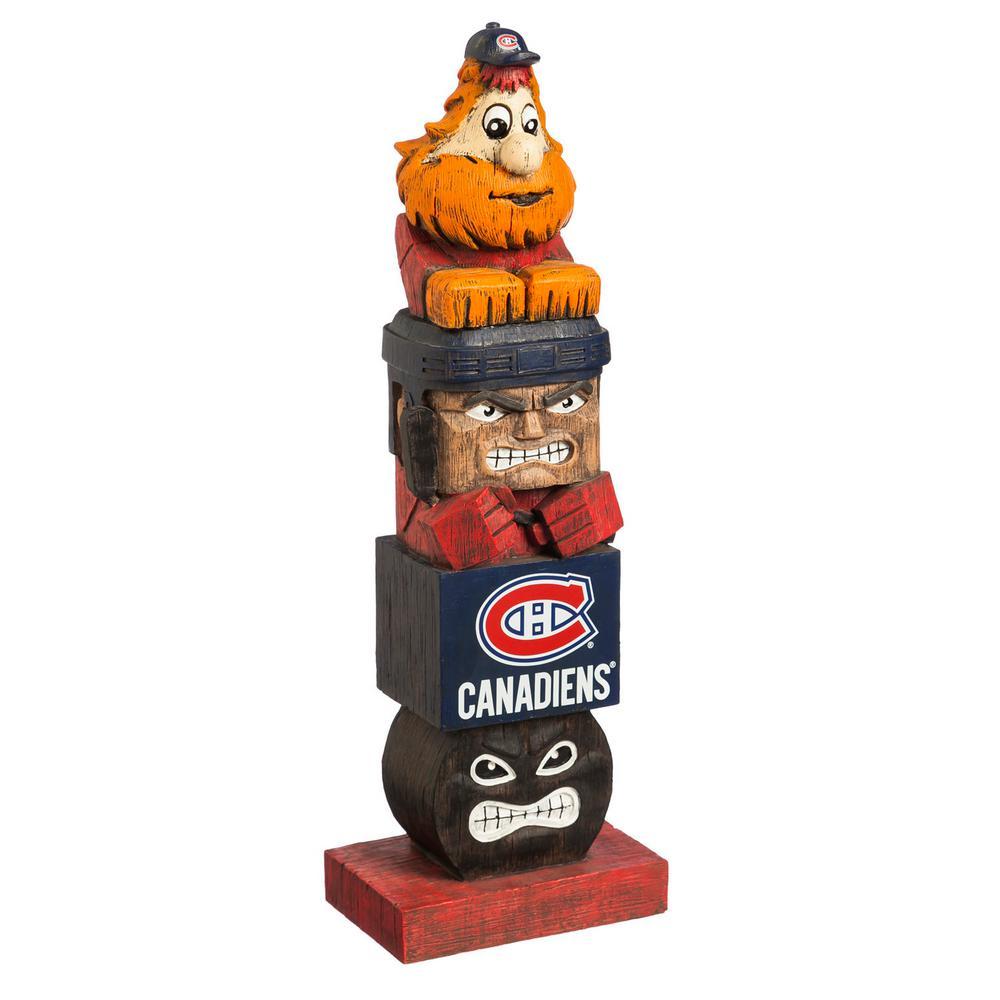 Evergreen Montreal Canadiens Tiki Totem Garden Statue