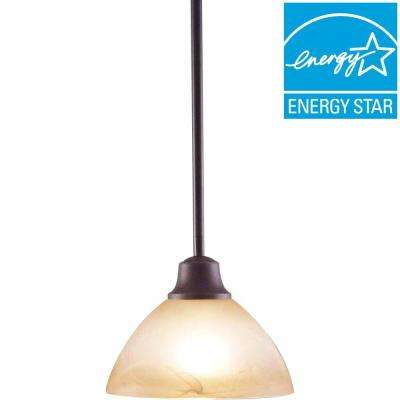 Lenor 1-Light Frontier Iron Incandescent Ceiling Semi-Flush Mount Light