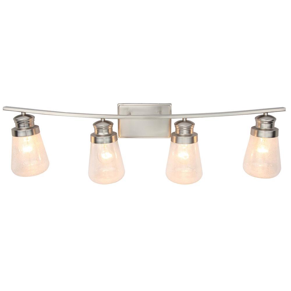 4-Light Brushed Nickel Vanity Lighting
