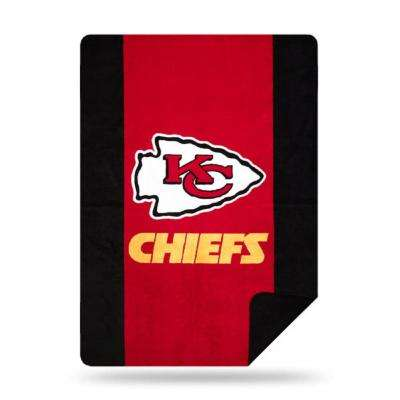 Chiefs Multi Color Acrylic Sliver Knit Throw