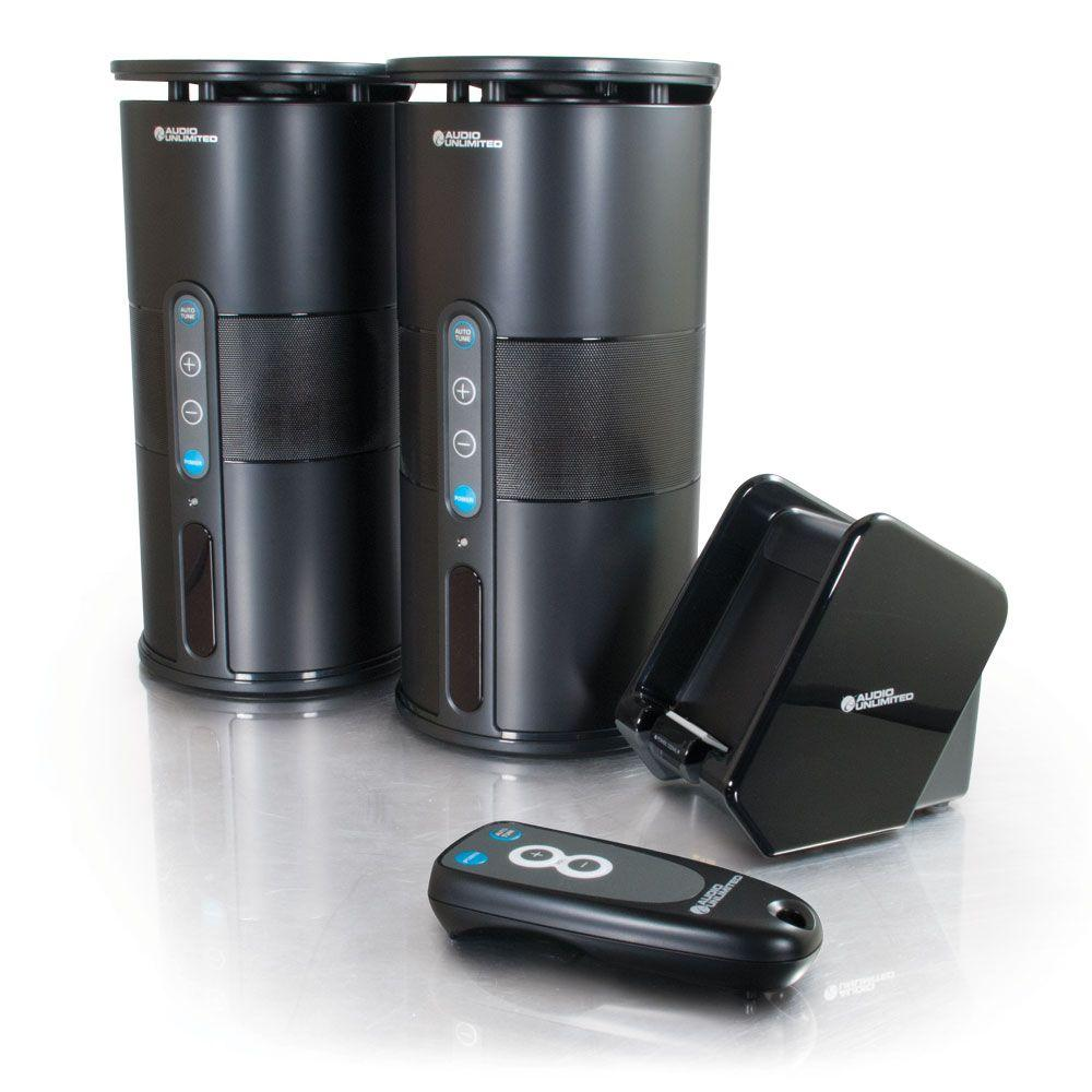 Cables to Go Premium 900MHz Wireless Indoor/Outdoor Speakers with Remote and Dual Power Transmitter - Black-DISCONTINUED