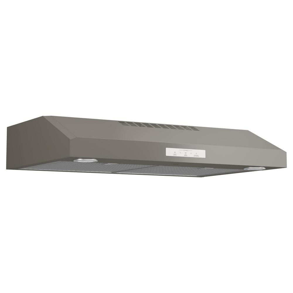 GE Profile 30 in. Under the Cabinet Convertible Range Hood in ...