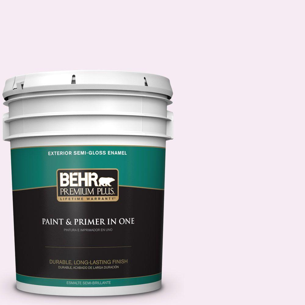 5-gal. #100A-1 Barely Pink Semi-Gloss Enamel Exterior Paint