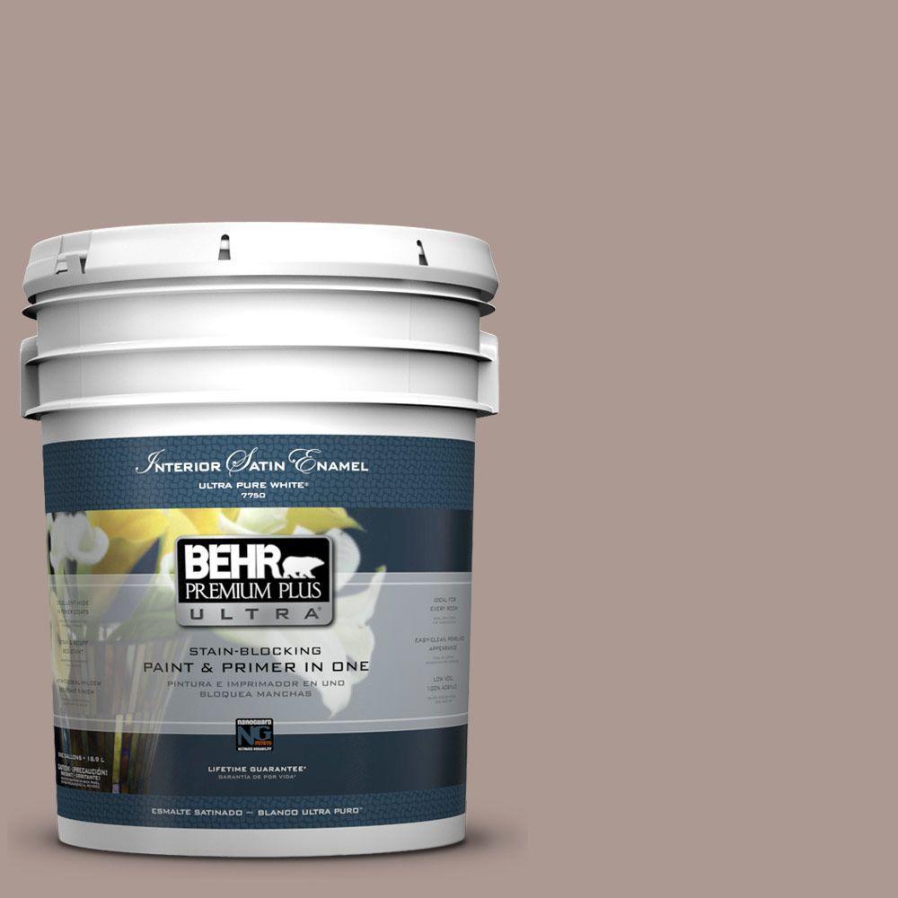 5-gal. #ECC-61-1 Desert Dusk Satin Enamel Interior Paint
