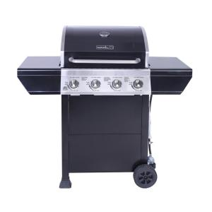 Click here to buy Nexgrill 4-Burner Propane Gas Grill in Black with Stainless Steel Control Panel by Nexgrill.
