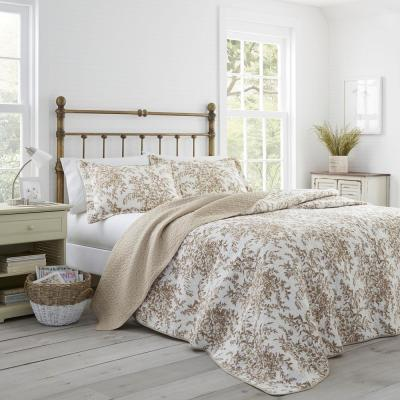 Bedford 3-Piece Mocha King Quilt Set