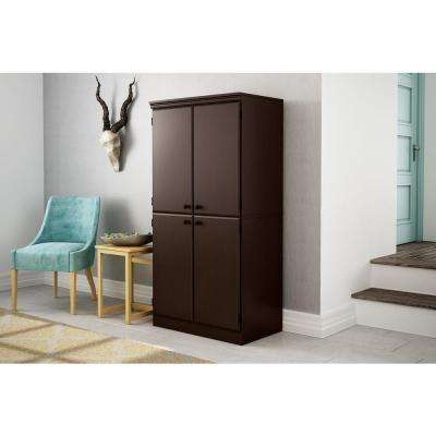 Morgan Chocolate Storage Cabinet