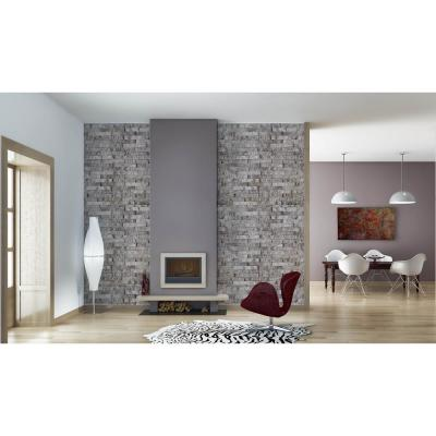 Florence Smoke Brick Spaccato Peel and Stick 3D Effect Self Adhesive DIY Wallpaper