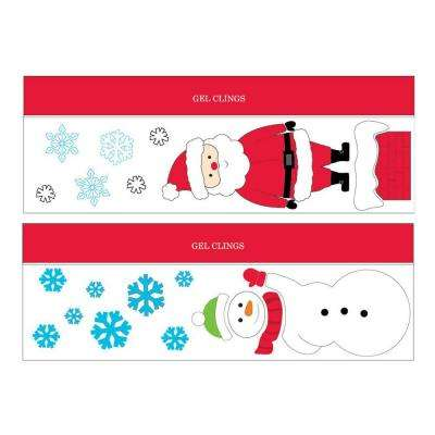 20 in. W x 7 in. H Christmas Gel Cling