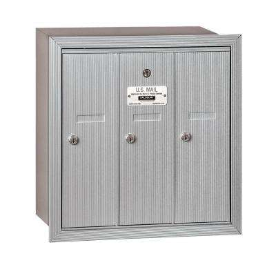 3500 Series Aluminum Recessed-Mounted Private Vertical Mailbox with 3 Doors