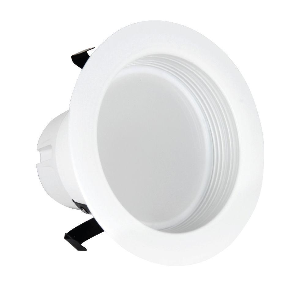 50W Equivalent Soft White 4 in. White Baffle-Trim Recessed Retrofit Downlight LED 90 CRI Maintenance Pack (24-Pack)