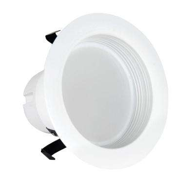 50W Equivalent Soft White 4 in. White Baffle-Trim Recessed Retrofit Downlight LED 90 CRI Maintenance Pack (6-Pack)
