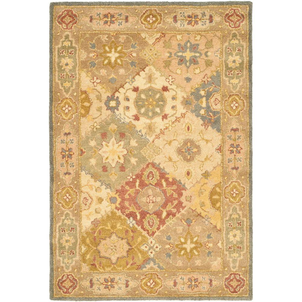Safavieh Antiquity Multi/Beige 4 ft. x 6 ft. Area Rug