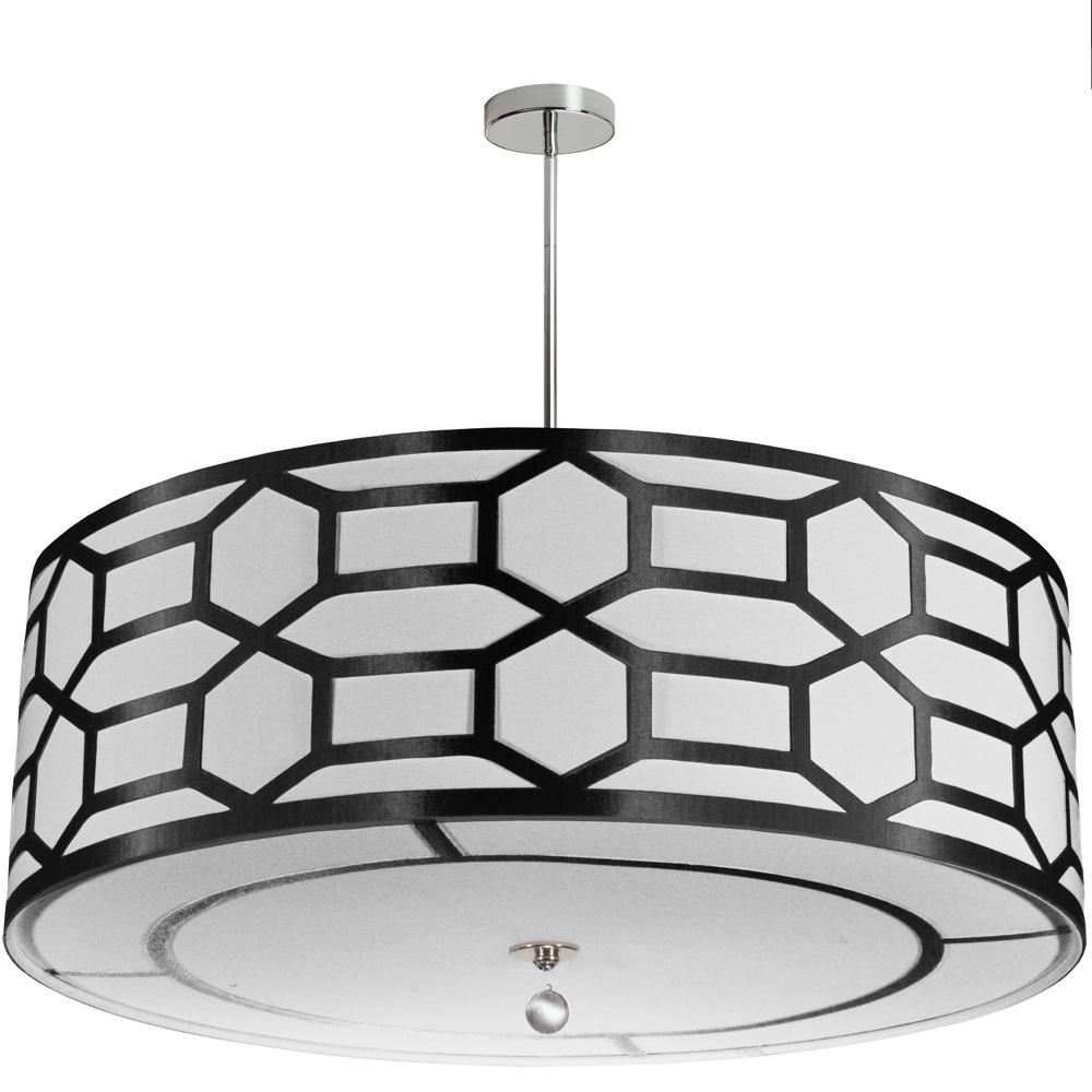 8-Light Black/White Pendant