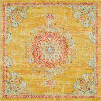 Penrose Alexis Gold 8 ft. x 8 ft. Square Rug