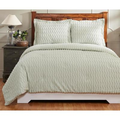 Isabella 90 in. X 90 in.  Sage Full/Queen Comforter with 20 in. X 26 in. 2-Standard Sham