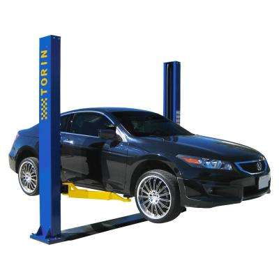 7000 lb. Car Lift 2 Post Base Plate Symmetric 2 Stage Rear Arms 2 Stage Front Arms