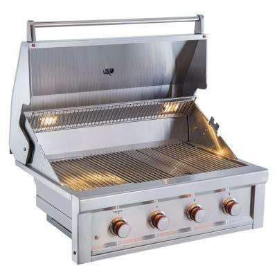Ruby 4 Pro Sear 36 in. Burner Built-In Gas Grill - Propane Only
