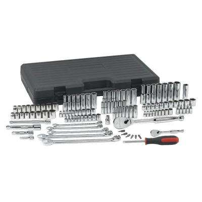 1/4 in. 3/8 in. and 1/2 in. SAE/Metric Socket Set (118-Piece)