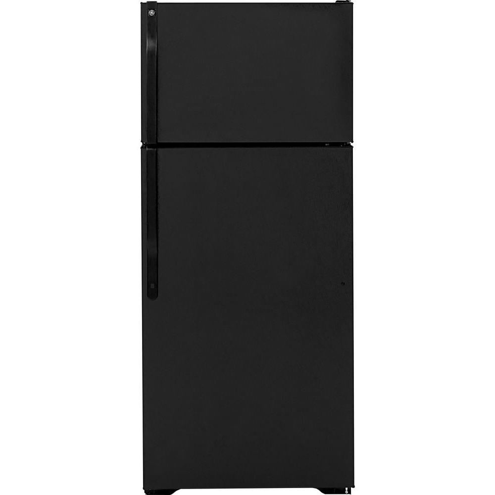 GE 18.1 cu. ft. Top Freezer Refrigerator in Black