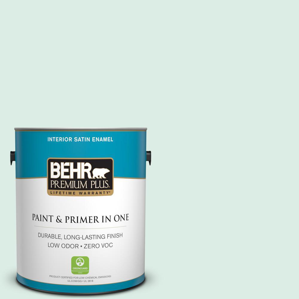 1-gal. #M420-1 Sparkling Brook Satin Enamel Interior Paint