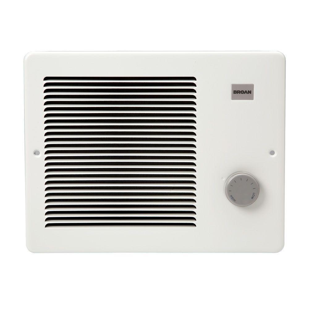 Broan 12-7/64 in. x 9-19/64 in. 1,000-Watt Wall Heater in White