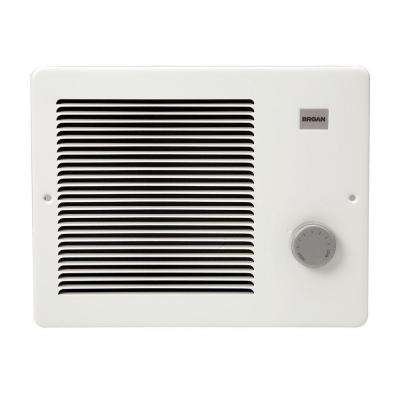 1,000-Watt Front-Mountable Wall Heater in White