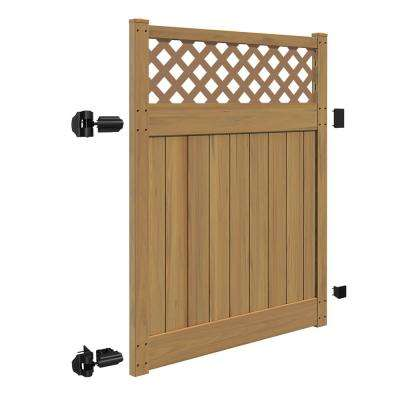 Carlsbad 5 ft. W x 6 ft. H Cypress Vinyl Un-Assembled Fence Gate
